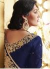 Staring Navy Blue Color Silk Half N Half Wedding Saree - 2