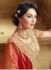Absorbing Floral Work Fancy Fabric Half N Half Wedding Saree - 1