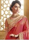 Absorbing Floral Work Fancy Fabric Half N Half Wedding Saree - 2