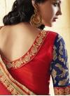 Debonair Sequins Work Half N Half Wedding Saree - 2