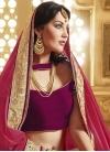 Flawless Mirror Work Half N Half Wedding Saree - 1