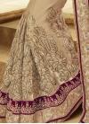 Flawless Mirror Work Half N Half Wedding Saree - 2