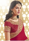 Blissful Sequins And Booti Work Half N Half Designer Saree - 2