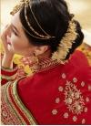 Winsome Pure Georgette Half N Half Wedding Saree - 2