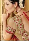Gripping Lace Work Net Half N Half Designer Saree - 2