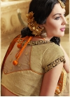 Sumptuous Patch Border And Beads Work Half N Half Designer Saree - 2