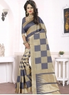 Distinctively Beige and Grey Trendy Saree For Ceremonial - 2