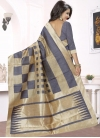 Distinctively Beige and Grey Trendy Saree For Ceremonial - 1