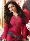 Fuchsia and Grey Drashti Dhami Straight Salwar Kameez - 1