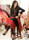 Drashti Dhami Black and Red Trendy Pakistani Salwar Kameez - 1