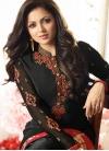 Drashti Dhami Black and Red Trendy Pakistani Salwar Kameez - 2