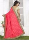 Suave Embroidered Work Cream and Rose Pink Half N Half Trendy Saree - 1
