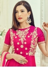 Art Silk Gauhar Khan Long Length Anarkali Salwar Suit For Ceremonial - 1