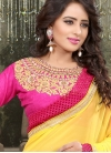 Absorbing Stone And Resham Work Party Wear Saree - 1