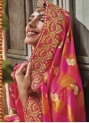 Beads Work Satin Silk Designer Contemporary Style Saree - 1