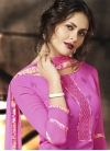 Picturesque Faux Crepe Digital Print Work  Palazzo Straight Salwar Suit - 1