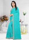Pure Georgette Embroidered Work Classic Saree - 1