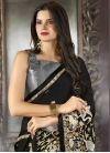 Embroidered Work Satin Designer Contemporary Style Saree For Ceremonial - 1