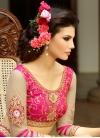 Picturesque Resham Work Half N Half Wedding Saree - 1