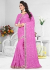 Pure Georgette Embroidered Work Contemporary Style Saree - 1