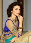 Regal Stone Work Half N Half Designer Saree - 1