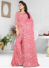 Embroidered Work Pure Georgette Traditional Saree - 1