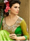 Talismanic Aloe Veera Green Color Net Designer Saree - 1