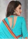 Talismanic Cotton Silk Resham Work Contemporary Style Saree - 2