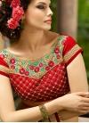 Distinctively Beads And Stone Work Wedding Saree - 1