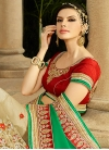 Desirable Beads And Lace Work Half N Half Bridal Saree - 1