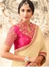 Crepe Silk Lace Work Half N Half Trendy Saree - 1