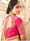 Crepe Silk Lace Work Half N Half Trendy Saree - 2