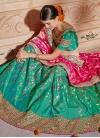 Jacquard Silk Beads Work Trendy Lehenga - 1