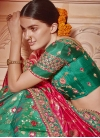 Jacquard Silk Beads Work Trendy Lehenga - 2