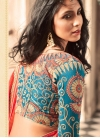 Silk Lace Work Traditional Saree - 2