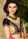 Classical Black Color Net Half N Half Designer Saree - 1