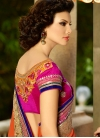 Entrancing Patch Border Work Wedding Saree - 2