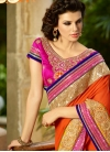 Entrancing Patch Border Work Wedding Saree - 1