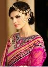 Majestic Resham Work Faux Georgette Wedding Saree - 1