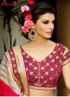 Glorious Sequins And Beads Work Wedding Saree - 1