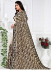 Black and Cream Faux Georgette Contemporary Saree - 1