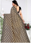 Black and Cream Faux Georgette Contemporary Saree - 2
