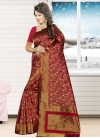 Jacquard Silk Thread Work Traditional Saree - 2