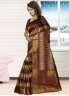 Congenial Thread Work Jacquard Silk Contemporary Style Saree - 2