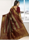 Congenial Thread Work Jacquard Silk Contemporary Style Saree - 1