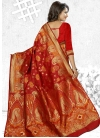 Cherubic Thread Work Traditional Saree - 1