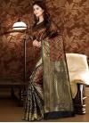 Patola Silk Black and Red Thread Work Classic Saree - 1