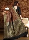Patola Silk Black and Red Thread Work Classic Saree - 2