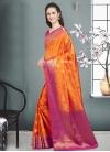Thread Work Banarasi Silk Contemporary Style Saree - 1
