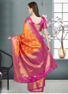 Thread Work Banarasi Silk Contemporary Style Saree - 2